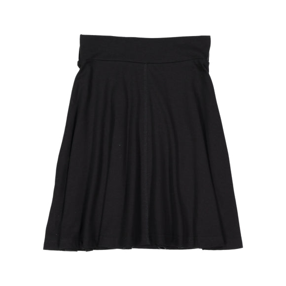 BASIC KNIT Circle Skirt - Black