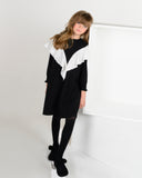 TARA Ruffle Shawl Dress Black  - FINAL SALE