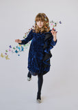 Cupcake Ruffle Dress - royal navy