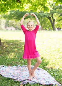 RIB Nightgown - Hot Pink - FINAL SALE