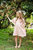 AVA Oversized Ruffle Sleeve Dress - BLUSH - FINAL SALE