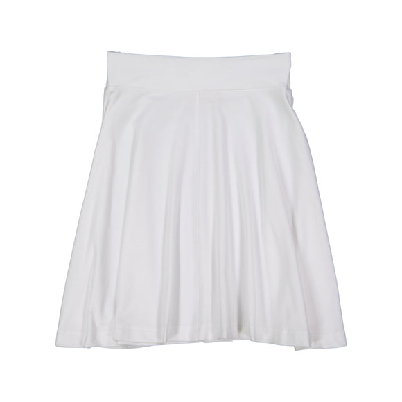 BASIC KNIT Circle Skirt - White