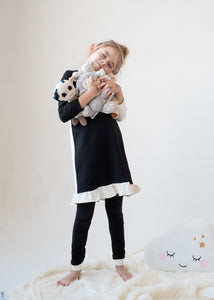 Nightgown - COLOR BLOCK - black/cream - FINAL SALE