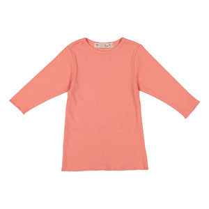 RIB Basic GIRL Tshirt - Peach