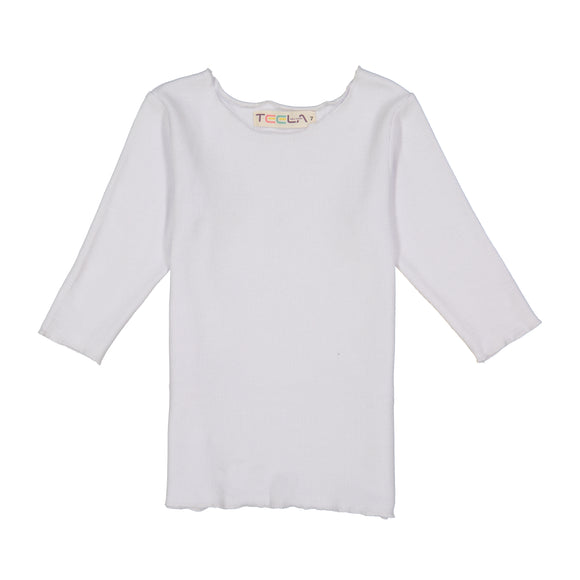 RIB Basic GIRL Tshirt - White