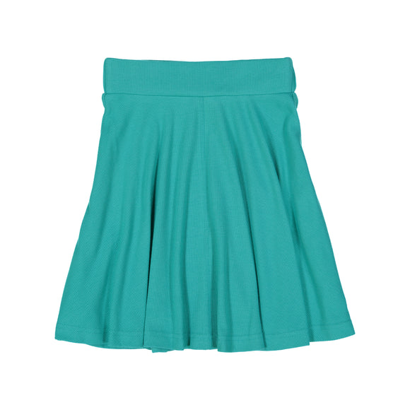 RIB Circle Skirt - Aquamarine