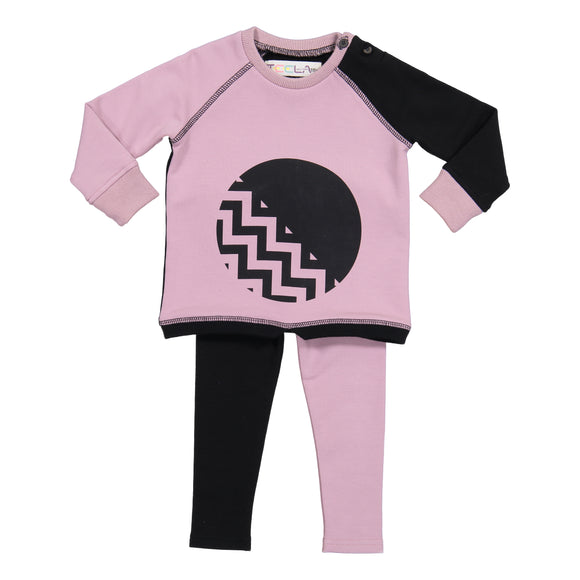 CIRCLE CHEVRON BABY set
