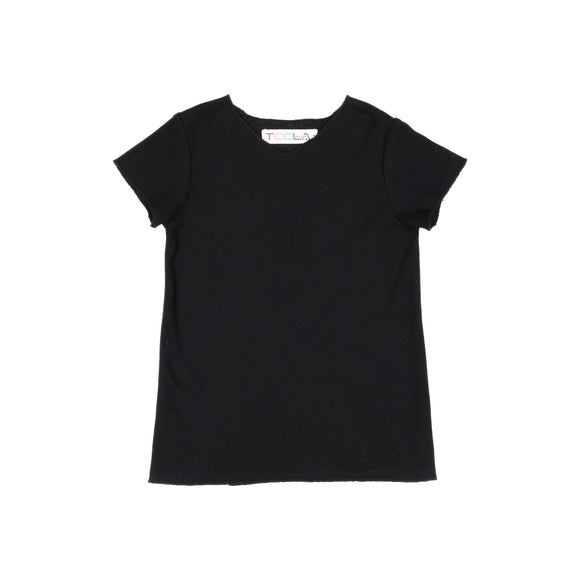 RIB Basic BOY/GIRL Tshirt - Black