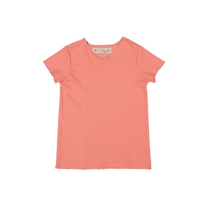 RIB Basic BOY/GIRL Tshirt - Peach