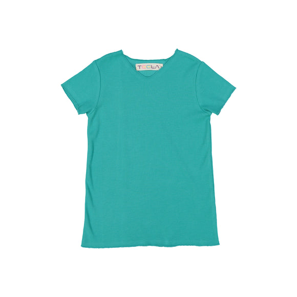 RIB Basic BOY/GIRL Tshirt - Aquamarine