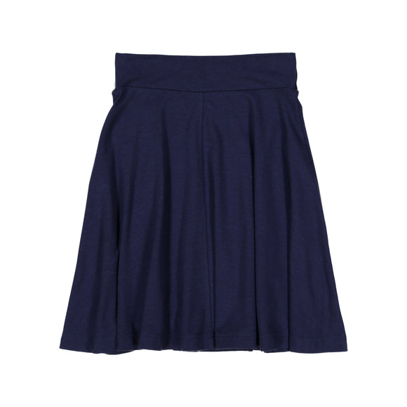 BASIC KNIT Circle Skirt - Navy