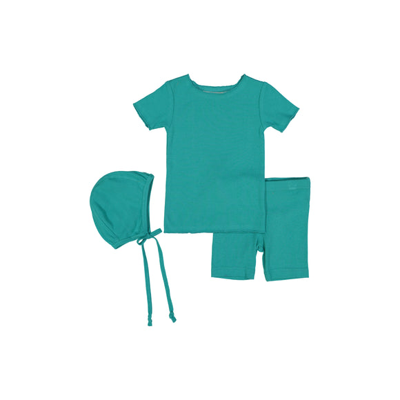RIB BABY set - Aquamarine
