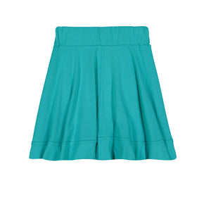 BASIC KNIT Circle Cut Solid Skirt - Robin Blue