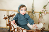 BABY Cable Knit Set - MIST TEAL