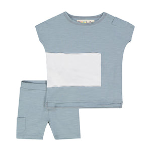 Copy of RECTANGLE Baby Set- SEA FOAM