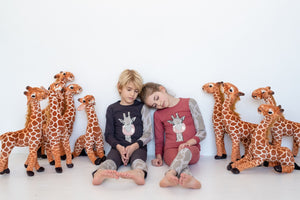 Loungeware set - Giraffe - salmon - FINAL SALE