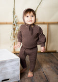 BABY Cable Knit Set - TOFFEE