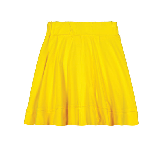 BASIC KNIT Circle Cut Solid Skirt - Yellow - FINAL SALE