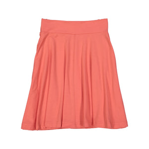 BASIC KNIT Circle Skirt - Peach