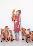 Nightgown - Giraffe - Salmon
