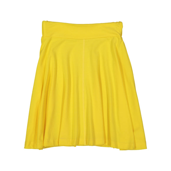 BASIC KNIT Circle Skirt - Yellow