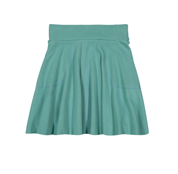 RIB Circle Skirt - Artichoke