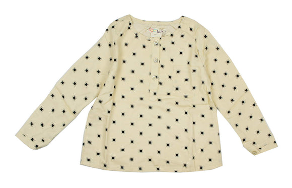 Teela Girls Beige Square Top - Young Timers Boutique  - 1