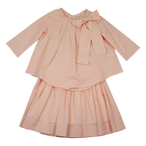 Teela Two Piece Pink Bow Pleat