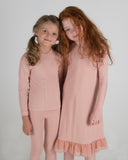 RIB Nightgown - Blush