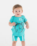CLOCK Baby Set - Robin Blue