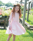 LEAH Fit and Flair Dress - Blush