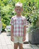 REX Square Print Boy's Top - Mauve