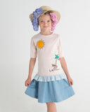 BEACH Girl's Ruffle Tshirt