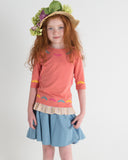 EMBROIDERY Girl's Ruffle Tshirt - FINAL SALE
