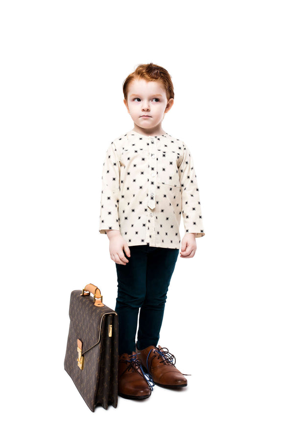 Teela Boys Charcoal Square Top - Young Timers Boutique  - 3