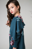 ZOE Floral Cape Dress - FINAL SALE