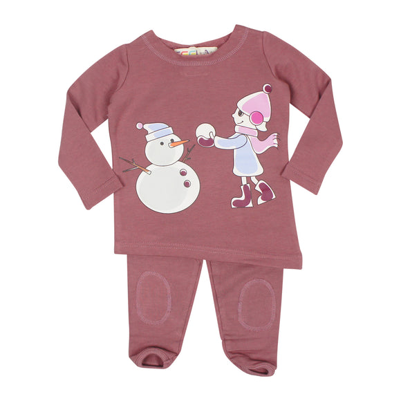 Snowman Mauve Set - FINAL SALE