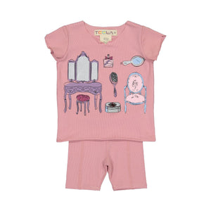 Teela Baby Girls' Dress Up Print Set