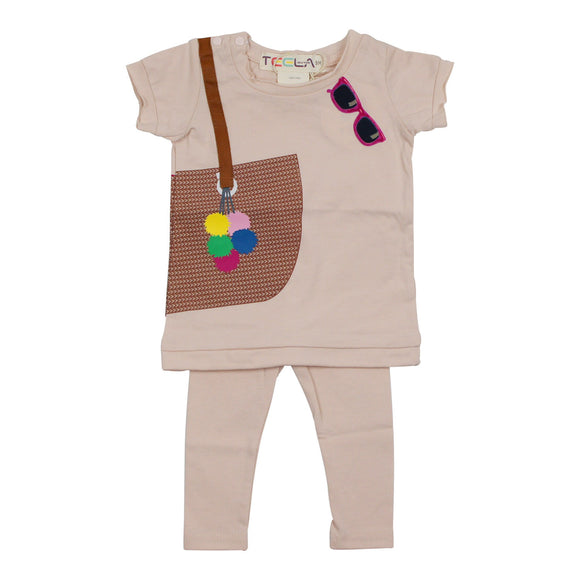Teela Baby Girls' Handbag Legging Set