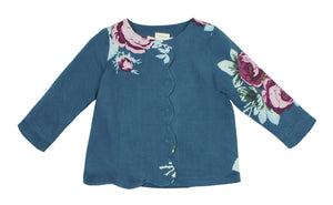 Teela Baby Girls' JOY Floral Scallop Shirt