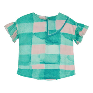 Teela Baby Girls' Joy Gingham Top