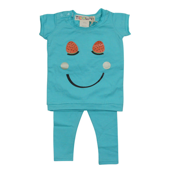 Teela Baby Girls' Smiley Set