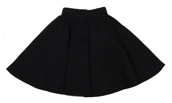 Teela Black Ponte Circle Skirt - Young Timers Boutique