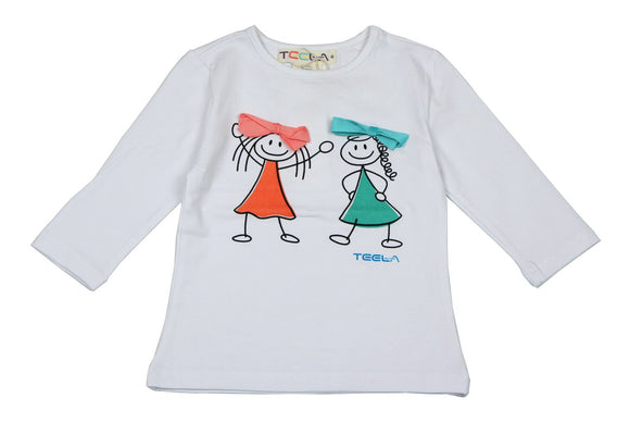 Teela Blue/Persim Stick Figure T-shirt