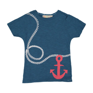 Teela Boys' Anchor Print Tee