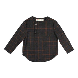 Teela Boys' DON Windowpane Shirt