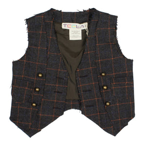 JAY Windowpane Vest - FINAL SALE