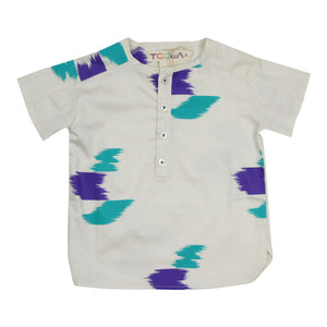 Teela Boys' Pearl Paint Half Print Top