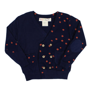 Teela Boys' Polka Dot Pocket Cardigan