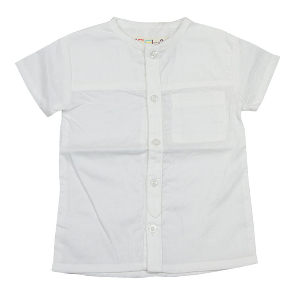 Teela Boys White Top - Young Timers Boutique  - 1